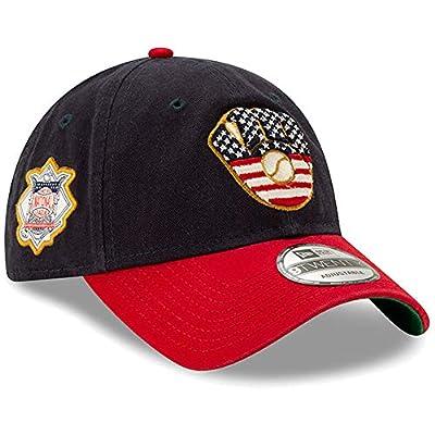 New Era 2019 MLB Milwaukee Brewers July 4th Flag Logo Baseball Cap Hat 9Twenty Navy/Red