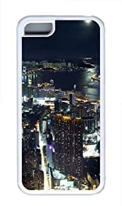 TYH - Hong Kong Night panorama Custom ipod Touch4 Case Cover TPU White ending phone case