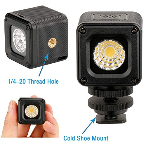 Pocket Waterproof Dimmable LED Video Light on Camera - ULANZI L1 Mini Adventure Continus Output Lighting for DJI Yuneec Drones Osmo Pocket Gopro Hero 7 6 5 Osmo Action Sony A6400 A6300 DSLR