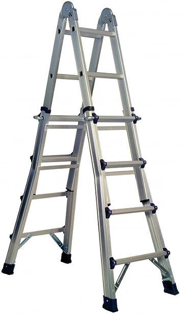 CODIVEN - Escalera Multiuso Aluminio Codiven 2,1-4,15Cm: Amazon.es: Bricolaje y herramientas