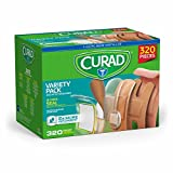 Curad CURCC320BC Variety Pack Assorted Bandages, 320ct