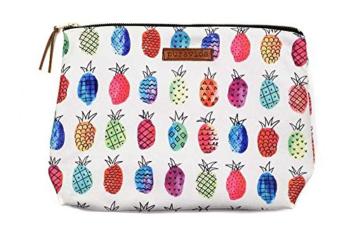 Pura Vida Beach Fruit Punch Clutch - Custom Contrast Zipper, 100% Cotton - 12