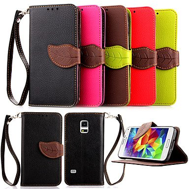 Wallet Card Holder PU Leather Flip Case Cover for Samsung Galaxy S5 Mini/S4 Mini/S3 Mini(Assorted Colors) ( Color : Black , Compatible Models : Galaxy S3 Mini )