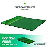 StrokeSaver Tri-Turf Tour Golf Mat (4 x 5 Feet) Free Two Days Delivery