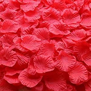 Gresorth Red Fake Silk Rose Petals Artificial Petal Flower Wedding Party Vase Decoration - 5000 PCS 7