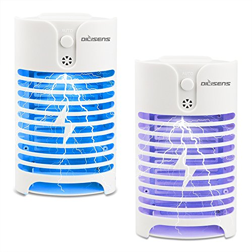 DILISENS Indoor Insect Killer, 2 Pack Plug-in Bug Zapper Electric Mosquito Killer Lamp with Light Sensor - Perfect for Indoor Pest Control (white) by DILISENS