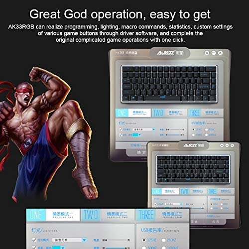 XIAOMIN 82 Keys Laptop Computer Gaming Mechanical Keyboard Durable Color : Color2