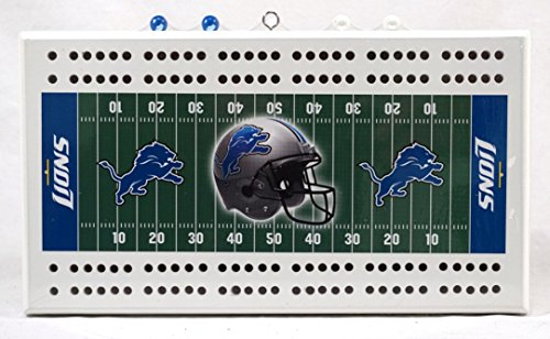Detroit Lions NFL Licensed 2 Track Cribbage Board by Rico Industries