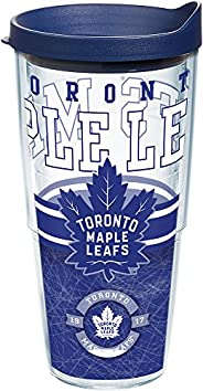 Tervis NHL Toronto Maple Leafs Core Tumbler with Wrap and Navy Lid 24oz, Clear
