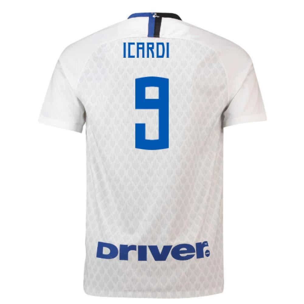 【2018?新作】 2018-19 Inter Milan Away Shirt (Mauro (124/136cm) Icardi White 9) B07H9SB48X 50-52