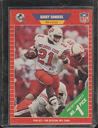 1989 Pro Set Barry Sanders Lions Rookie Football Card 494 At