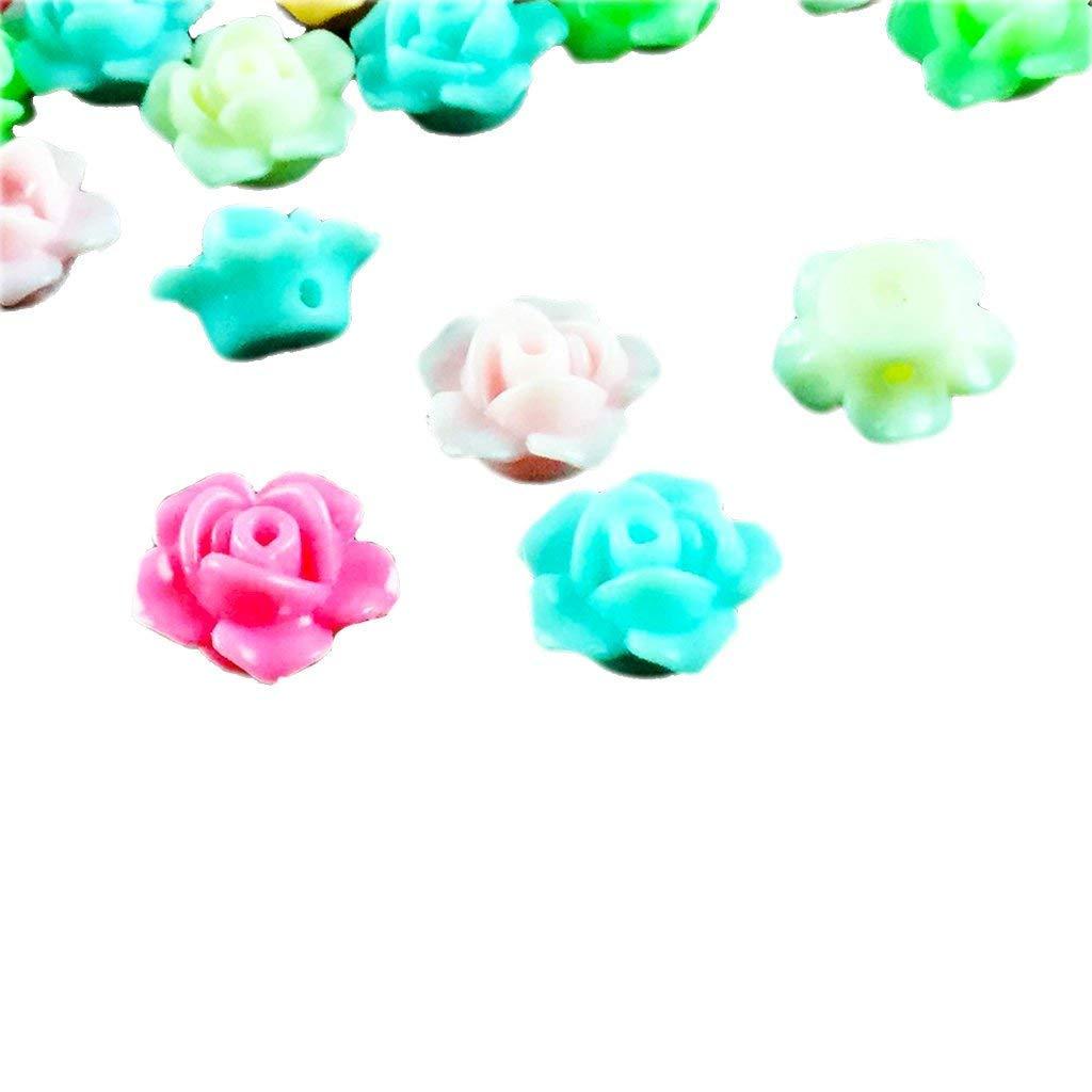 Runde Sortierte Blume Spacer Perlen Kunststoff Beads Perlen Zwischenperlen