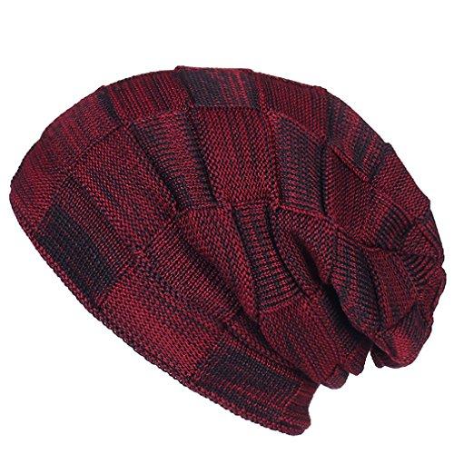 Esquí Hip Gorro Hat de Gorra Caliente Rojo Estiramiento Sombrero Xianshu Ssuave de Flexible Punto Unisex Pop HgRwqxq7