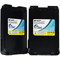 2-Pack Replacement BP-227 Battery for ICOM Two-Way Radio - Compatible with Icom IC-M88, Icom IC-F50, Icom IC-F50V, Icom IC-F60, Icom BP-227, Icom IC-F51, Icom IC-F61, Icom IC-M87, Icom ICV85