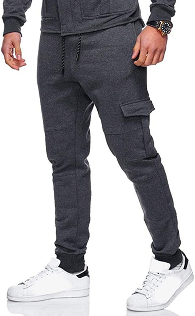 Mr.Macy Mens Sport Jogging Fitness Pant Casual Loose Sweatpants Drawstring Pant