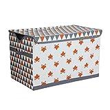 Bacati-Playful-Foxs-Storage-Toy-Chest-OrangeGrey