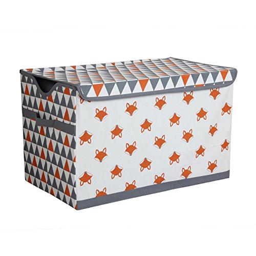 Storage Toy Chest, Orange/Grey ()