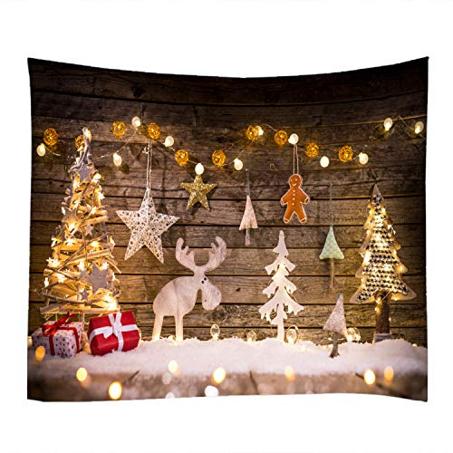 Decor Tapestry Wall Hanging - Christmas Elements Print Decorative Throw Fabric Tapestry Wall Hanging Art Decor Living Room Bedroom 79 x 59 inches