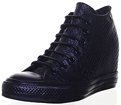 354dda061407 Converse All Star Wedge Reptile Print Platform Leather Trainers Size UK 3 -  8  Amazon.co.uk  Shoes   Bags