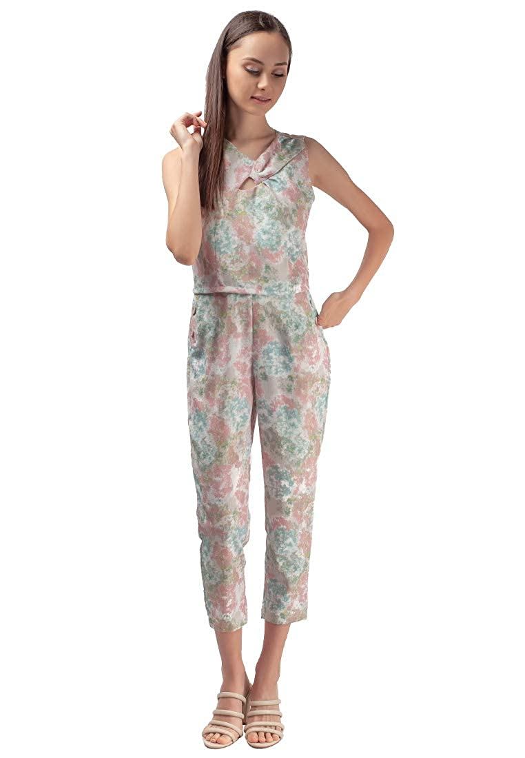 Plains and Prints Womens Marbella Kahlia Sleeveless Pantsuit