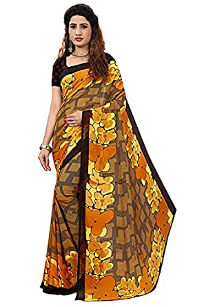 a412c0352d kirz web store Women's cotton Silk Saree With Blouse Piece (Pure Soft Heavy  Weight Less)(yellow): Amazon.in: Clothing & Accessories