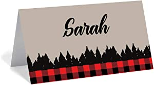 Red Door Inspirations Buffalo Plaid Place Card/Food Tent Sign/Gift Tag - 30 Count