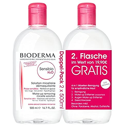 Bioderma Sensibio H2O mizellar limpiar Solución 500 ml + 500 ...