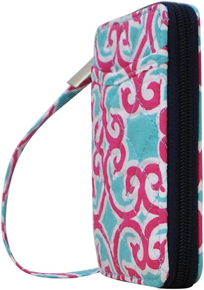Damask Themed NGIL Quilted Wristlet Wallet