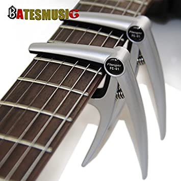 oxgrow (TM) Flanger guitarra cejilla para guitarras acústicas para guitarra eléctrica Aleación de aluminio de alta resistencia primavera: Amazon.es: ...