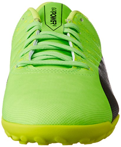 Puma Evopower Vigor 4 TT, Botas de Fútbol Unisex Niños, Verde (Green Gecko Black-Safety Yellow 01), 37.5 EU