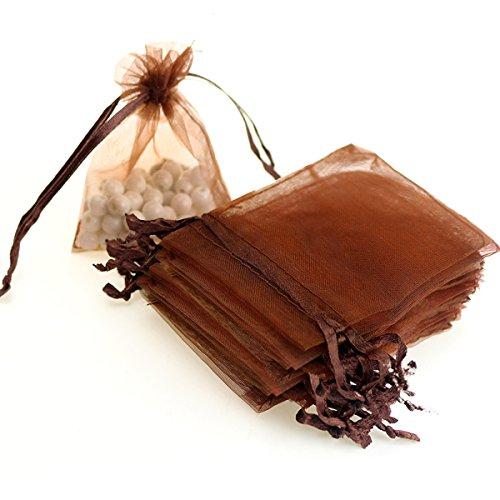 Brown Organza Bags (AKStore 100PCS 4x6