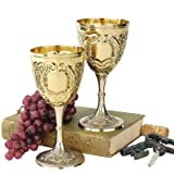 Design Toscano The King's Royal Chalice Embossed Brass Goblet: Set of Six
