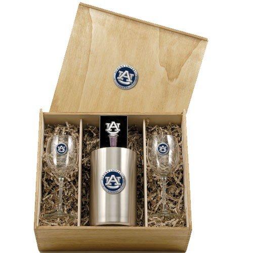 Heritage Pewter Auburn Tigers Wine Box ()