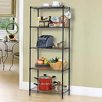 12-Tier Wire Shelving bathroom storage 12 Shelves Unit Metal kitchen
