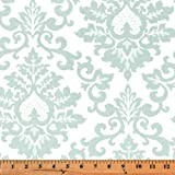 Fabric Shower Curtain - CECILIA SNOWY - 72'' Width x (72'', 74'', 78'', 84'', 90'', 96'') Length