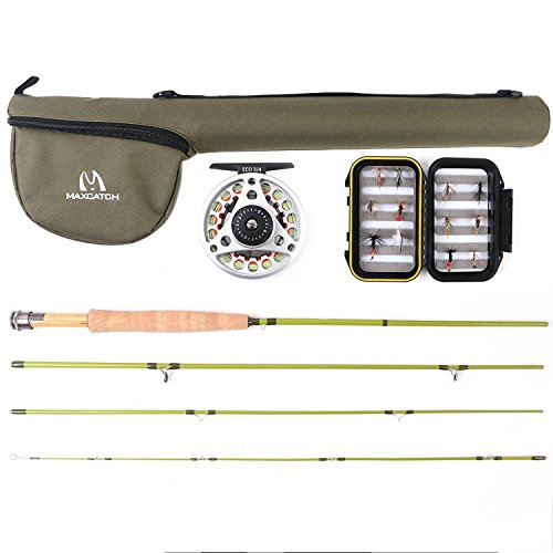 Fly Rod Outfit Trout - M MAXIMUMCATCH Maxcatch Ultra-lite Fly Rod Combo, Rod and Reel Outfit: 2wt/3wt (6'6'' 2wt 4pcs)