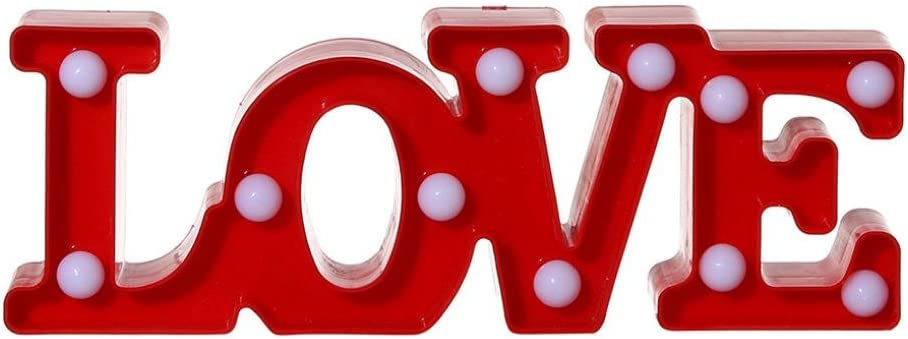 Home Decor LOVE HOME Word LED Plaque Sign Light Wall Mountable Free Standing