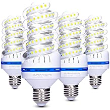 ANMIEN 150 Watt Equivalent LED Light Bulbs,20W 1700 Lumens Spiral LED Bulb,6000K Daylight White,Non-Dimmable,E27 Base,UL Listed,4-Pack