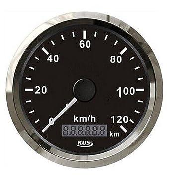 Kus é tanche GPS Compteur de vitesse Odomè tre Jauge de 120 km/H avec ré troé clairage pour auto 85 mm
