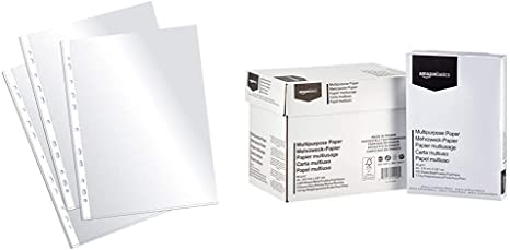 Plus Office EH303A-8/FC - Fundas multitaladro folio-cristal, 90 ...