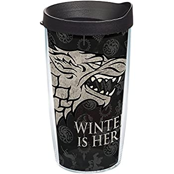 c39368732ce Tervis 1243477 HBO Game of Thrones - House Stark Insulated Travel Tumbler  with Wrap & Lid