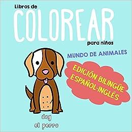 Libros De Colorear Para Niños Edición Bilingüe Español Inglés