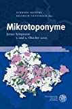 Mikrotoponyme : Jenaer Symposion, 1. und 2. Oktober 2009, Meineke, Eckhard, 3825359492