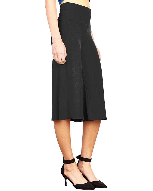 cheap Sumtory Women's Casual High Waist Wide Leg Culottes Gaucho ...