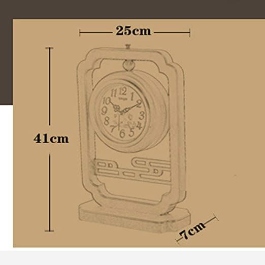 Amazon.com: Family Fireplace Clocks Chinese Style Double-Sided or Wooden Clock Fashionable Wooden Watch Living Room Clock Decoration ó n Bedroom Suitable ...