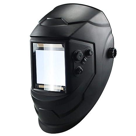 Z@SS Casco de Soldadura de oscurecimiento automático Solar Pantalla de visualización Grande 4 Sensor