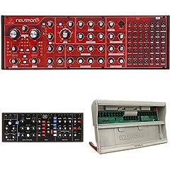 Semi-modular Synthesizer Bundle, with Behringer Neutron Analog Synthesizer, Behringer Model D Analog Synthesizer, and Tiptop Audio Mantis Eurorack Case