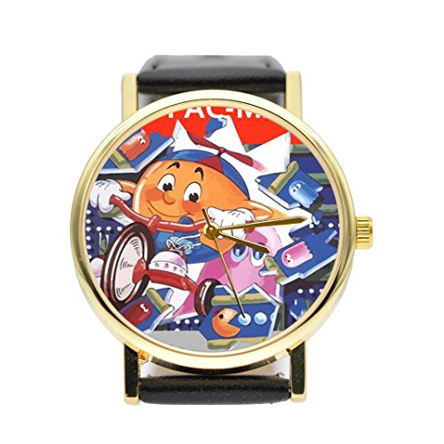JR.Pacman Game Program Watch Vintage Style Watch (Brown) for sale  Delivered anywhere in USA