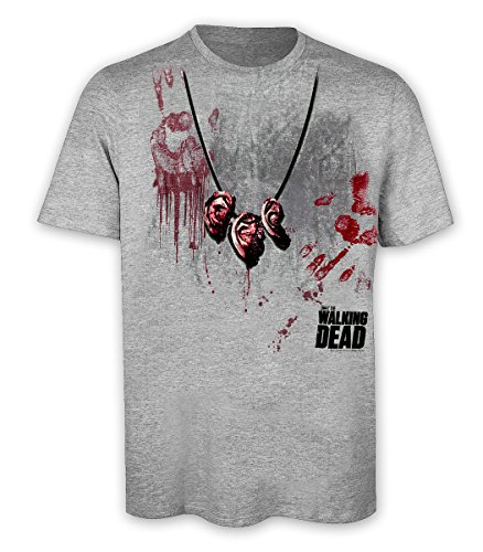 The Walking Dead T-Shirt Daryl Dixon's Zombie Ear necklace (S)]()