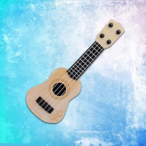 KLOZ Mini Viersaitengitarre Kindererleuchtung Musikinstrument Gitarrist//Kindergitarre Ukulele Erstes Musikinstrument Kinder Holzspielzeuggitarre//Ukulele Spielzeuggitarre